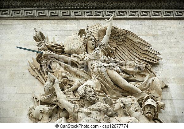 france., de, 弧, triomphe, パリ - csp12677774