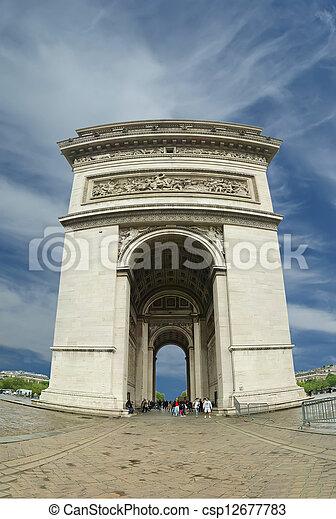 france., de, 弧, triomphe, パリ - csp12677783