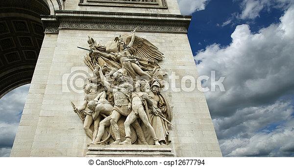 france., de, arco, triomphe, paris - csp12677794