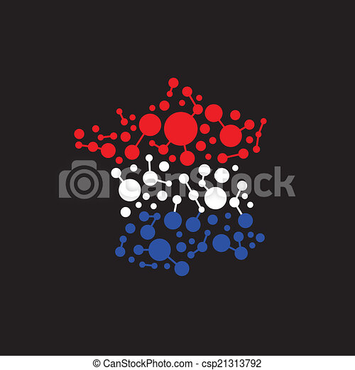 France dot and lines map image logo - csp21313792