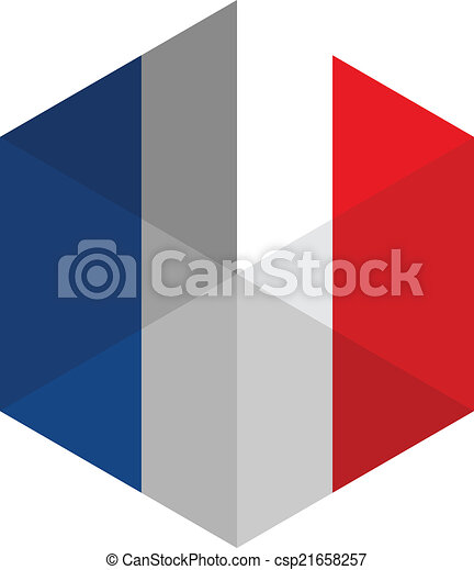 france flag hexagon flat icon button clipart vector search rh canstockphoto ie france flag clipart france flag clipart black and white