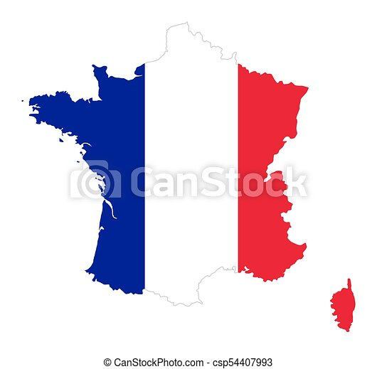 france flag in silhouette of the country french republic flag in rh canstockphoto com Vintage French Printable French Scroll Borders