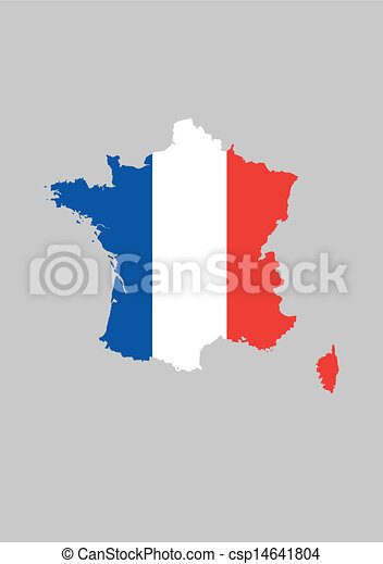France Map Flag.France Flag Map Vector Illustration Of The French Map With The Flag