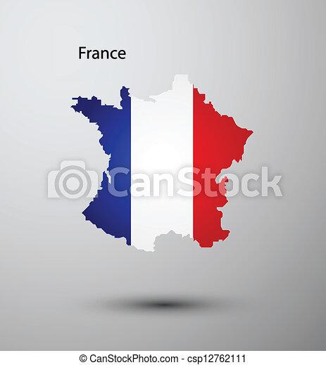 France flag on map - csp12762111