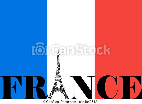 france flag silhouette french flag with france and eiffel tower