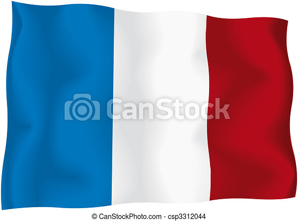 france french flag french wavy flag isolated on white background rh canstockphoto com German Flag Clip Art french flag clipart black and white