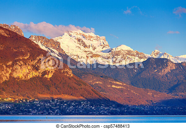 France. Lake Annecy. - csp57488413
