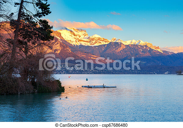 France. Lake Annecy. - csp67686480