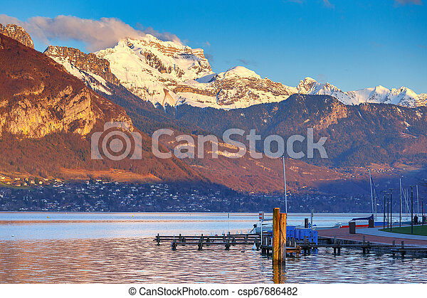 France. Lake Annecy. - csp67686482