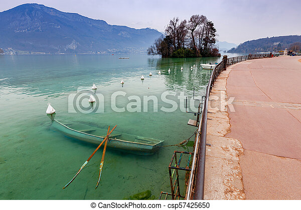 France. Lake Annecy. - csp57425650