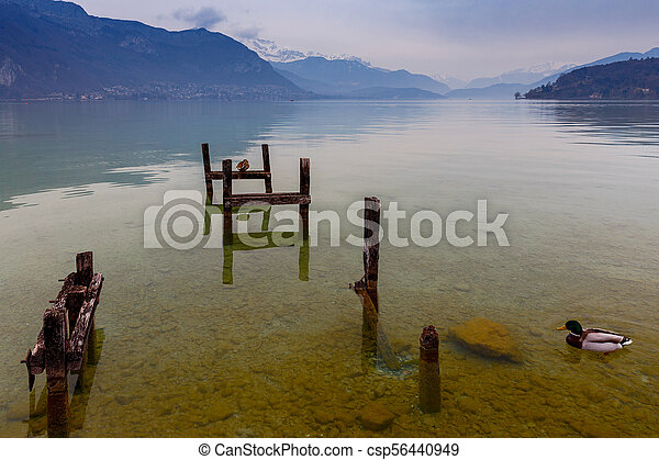 France. Lake Annecy. - csp56440949