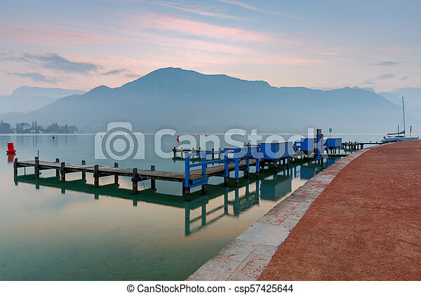 France. Lake Annecy. - csp57425644