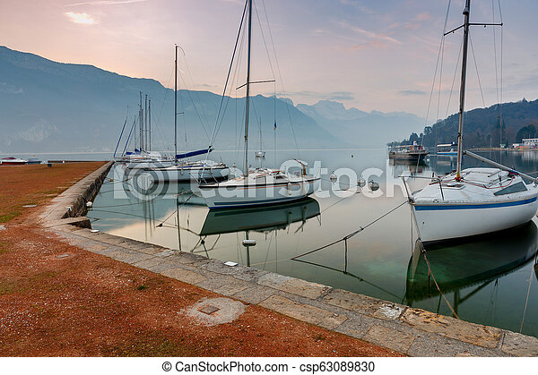 France. Lake Annecy. - csp63089830