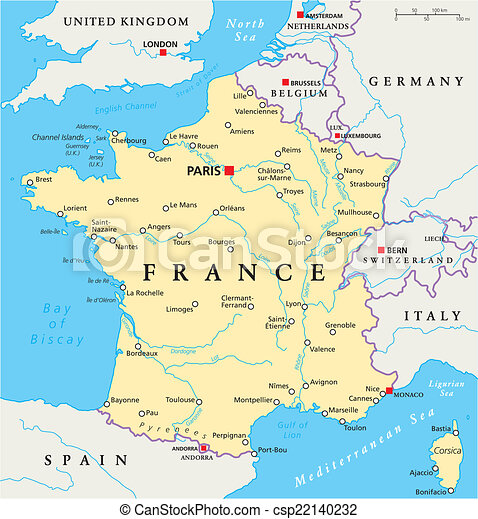Map Of France Political.France Political Map