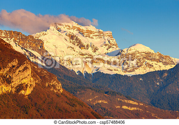 France. The Alps near Annecy. - csp57488406