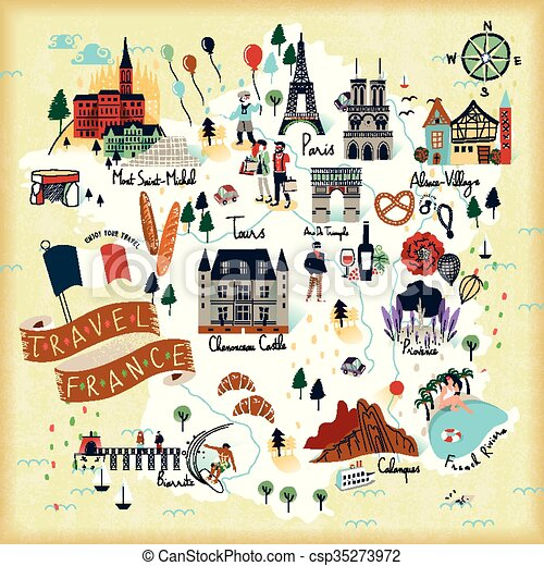 Map Of France Tourist Attractions.France Travel Map
