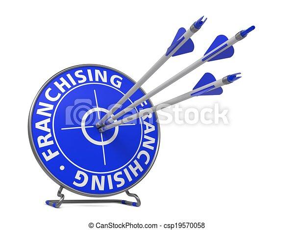 Franchising Concept - Hit Target. - csp19570058