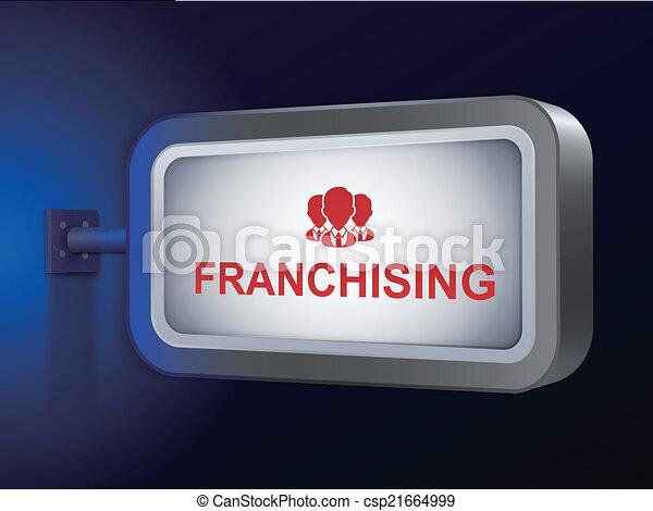 franchising word on billboard - csp21664999