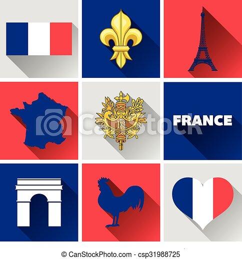 El icono de Francia - csp31988725