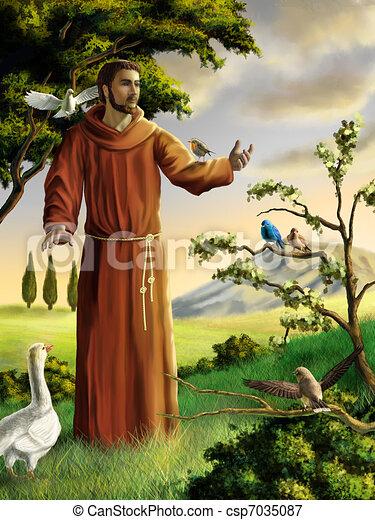 francis, 聖者 - csp7035087
