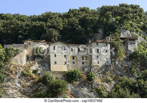 franciscan, 側, greccio, rieti, 修道院, 急 - csp16537492