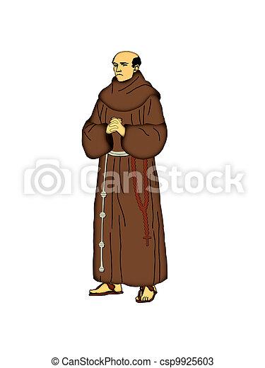franciscan, friar. - csp9925603