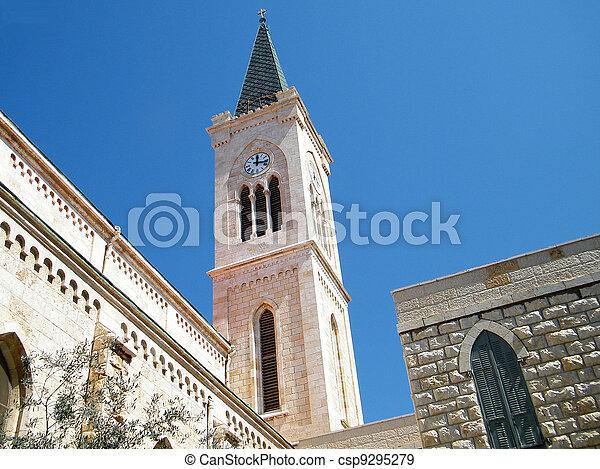 franciscan, jaffa, タワー, 2011, 教会 - csp9295279