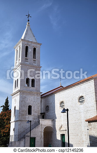 franciscan, shibenik, church. - csp12145236