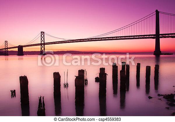 francisco, öböl, szanatórium, bridzs, california. - csp4559383