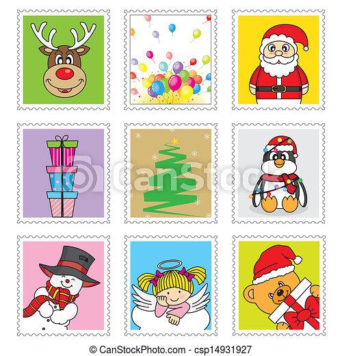 francobolli, natale - csp14931927