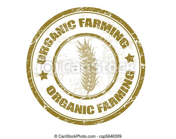 francobollo, agricoltura, organico - csp5646309