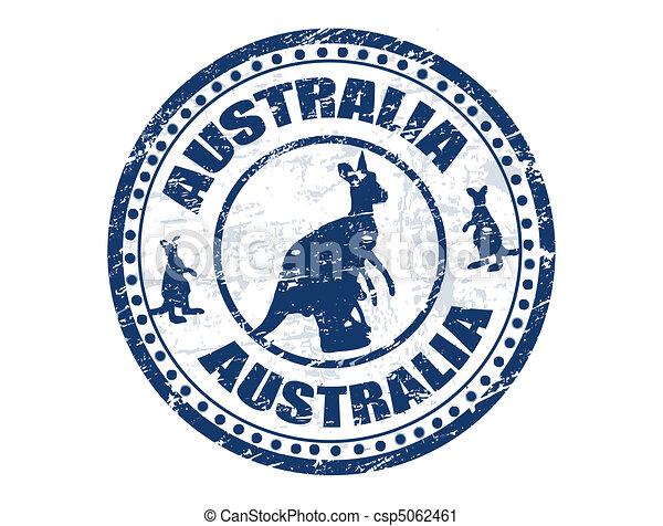 francobollo, australia - csp5062461