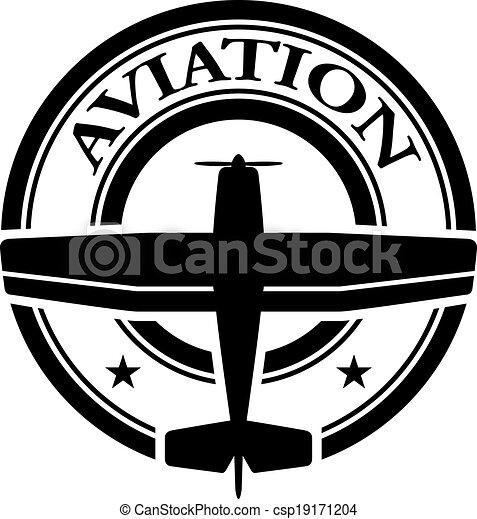 francobollo, aviazione, vettore - csp19171204