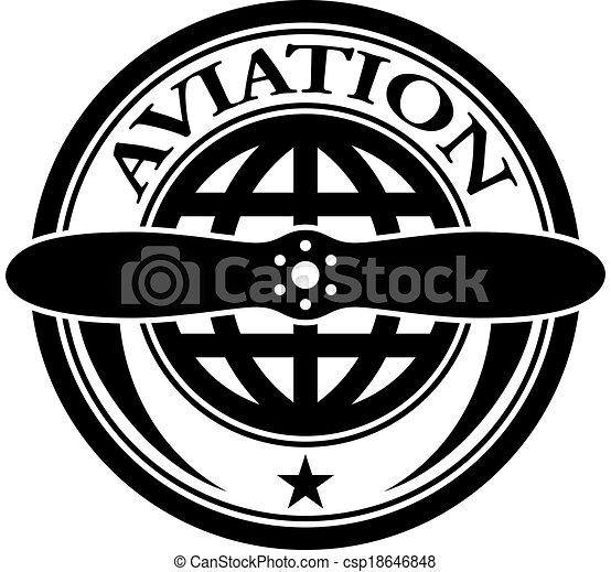 francobollo, aviazione, vettore - csp18646848