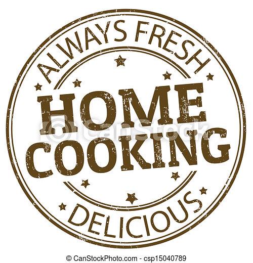 francobollo, casa cucinando - csp15040789