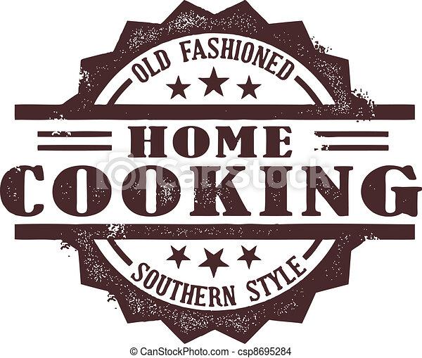 francobollo, casa cucinando - csp8695284