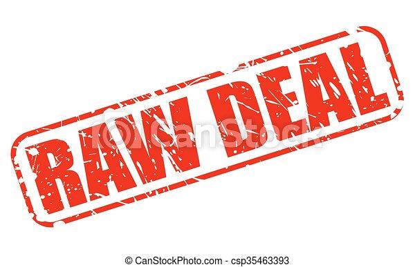 francobollo, crudo, affare, rosso, testo - csp35463393