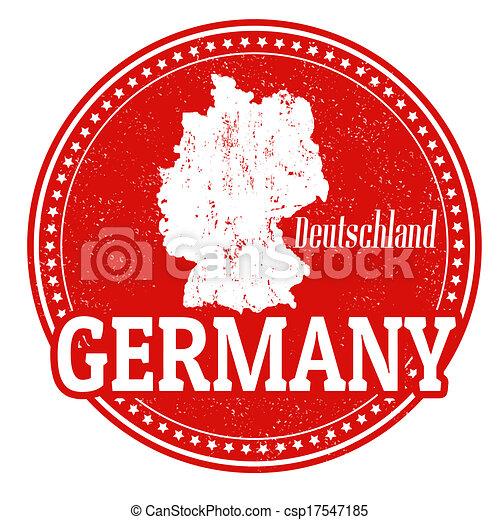 francobollo, germania - csp17547185