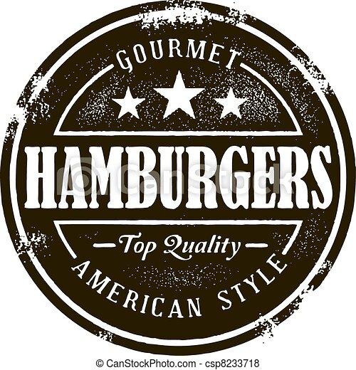 francobollo, hamburger, classico - csp8233718