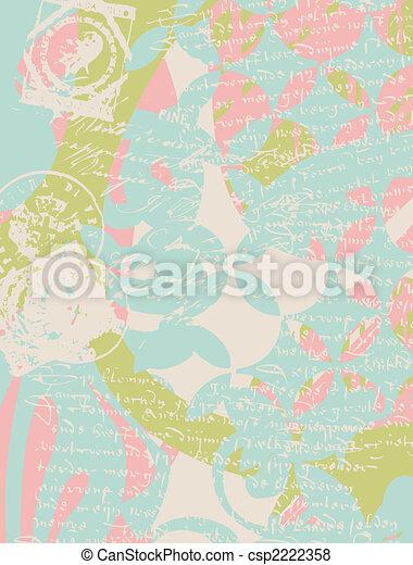 francobollo, manifesto, classico - csp2222358