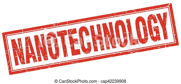 francobollo, nanotechnology, quadrato - csp42239908
