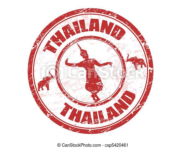 francobollo, tailandia - csp5420461