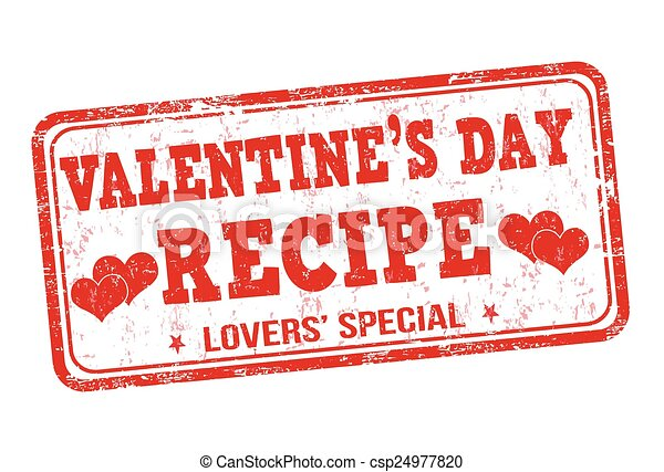 francobollo, valentines, ricetta, giorno - csp24977820