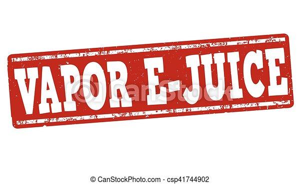 francobollo, vapore, segno, o, e-juice - csp41744902