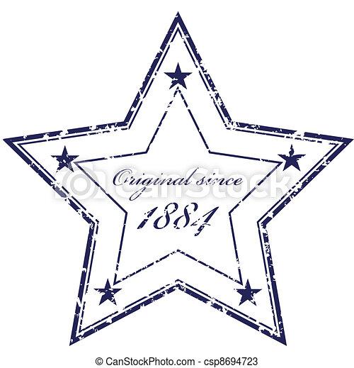 francobollo, vettore, grunge - csp8694723