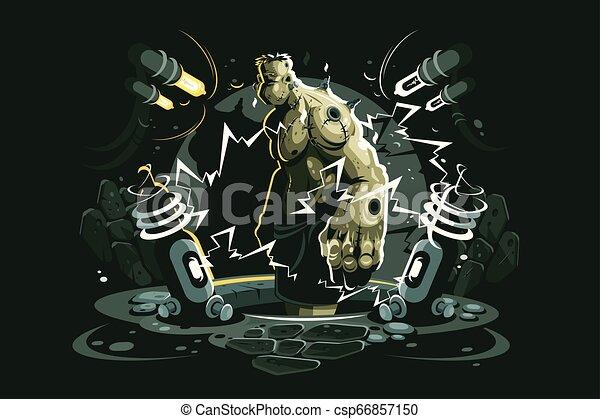 Frankenstein cartoon character - csp66857150
