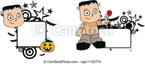 frankenstein, halloween1, capretto - csp11133774