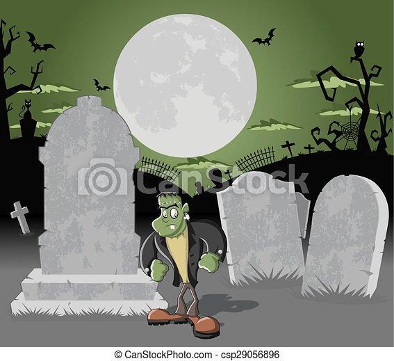 frankenstein, kyrkogård - csp29056896