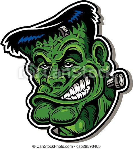 frankenstein monster cartoon frankenstein monster face Cartoon Basketball Players Baseball Player Clip Art
