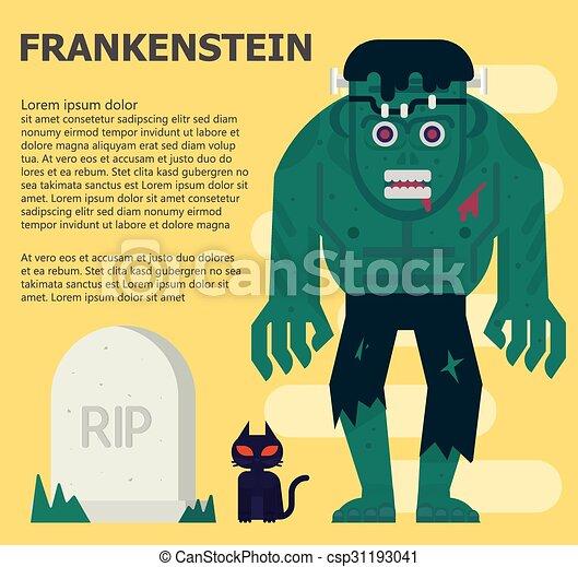 frankenstein Vector flat illustration - csp31193041